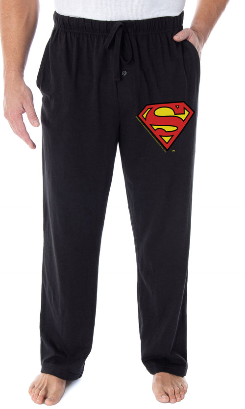 DC Comics Men's Superman Pajama Pants Classic S Symbol Loungewear Sleep Pants