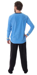 Star Trek Original Series Men's Uniform Costume Sleepwear Pajama Set - Captain Kirk Or Commander Spock