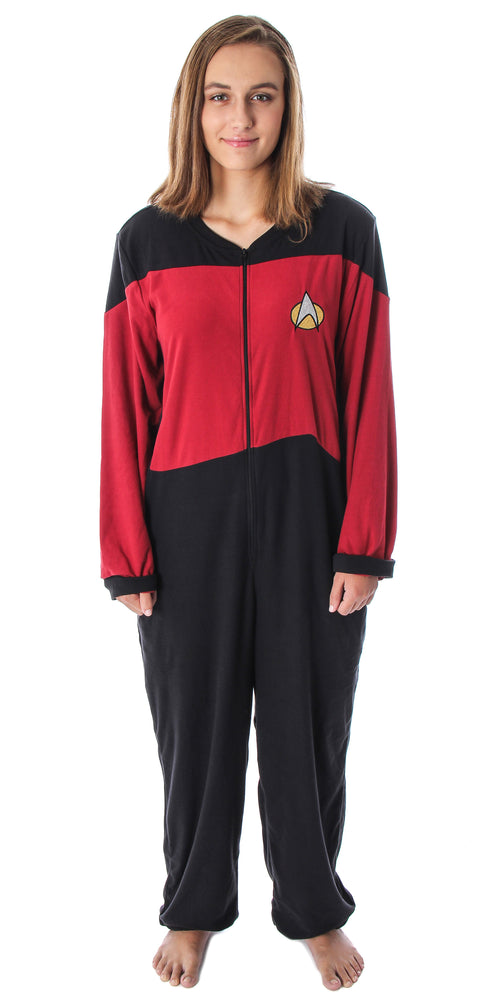 Star Trek Women's The Next Generation TNG Picard Command Uniform One Piece Costume Pajama Union Suit