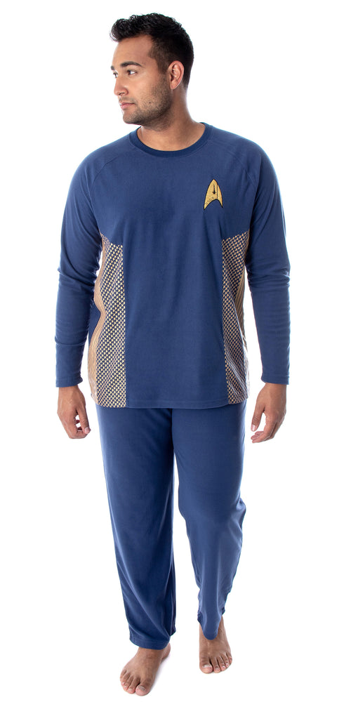 Star Trek Discovery Men's Command Uniform Costume Sleepwear Pajama Set