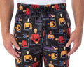 Star Trek The Next Generation Men's Allover Character Adult Lounge Sleep Pajama Pants