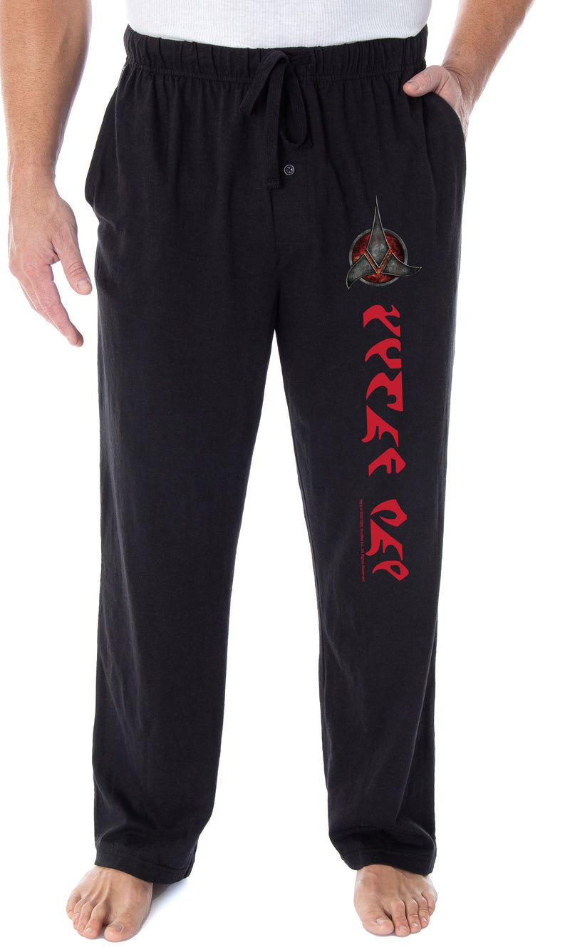 Star Trek The Next Generation Men's Klingon Tlhingan Mah We Are Klingons! Lounge Pajama Pants