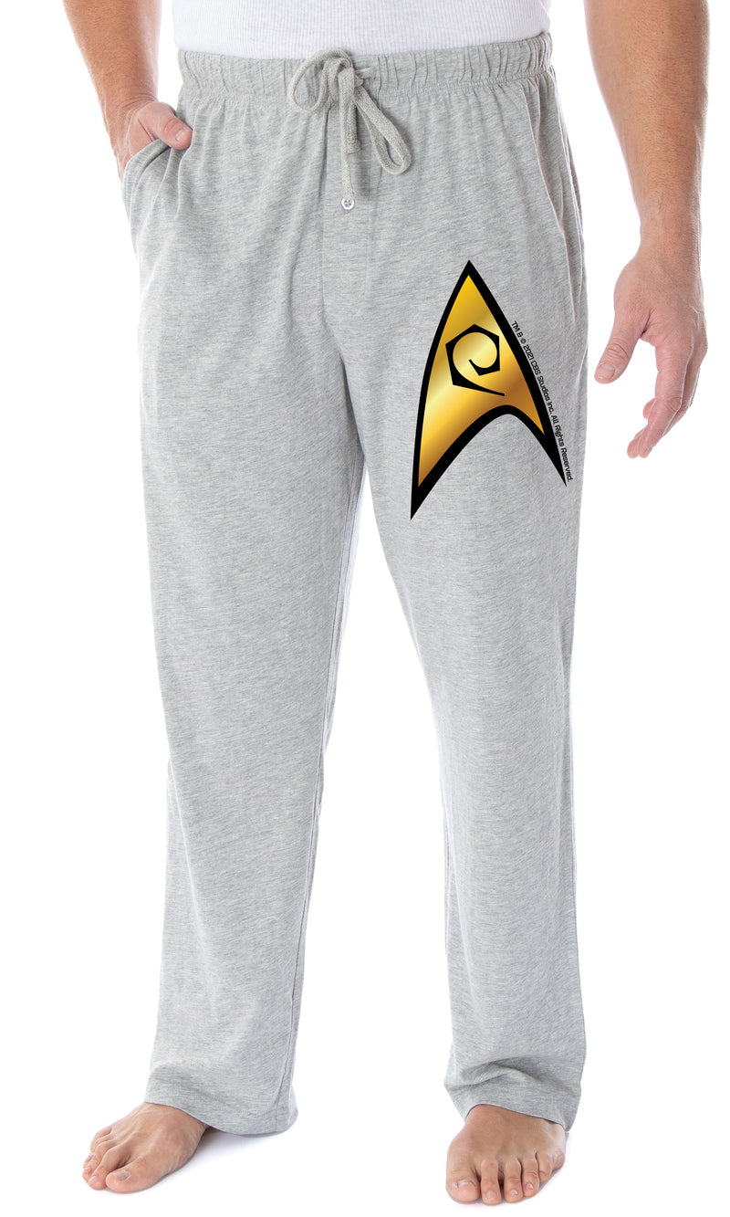 Star Trek Men's The Original Series Operations Division Starfleet Insignia Lounge Pajama Pants