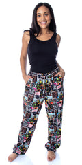 Star Wars Men's Comic Book Allover Pattern Adult Sleepwear Lounge Pajama Pants