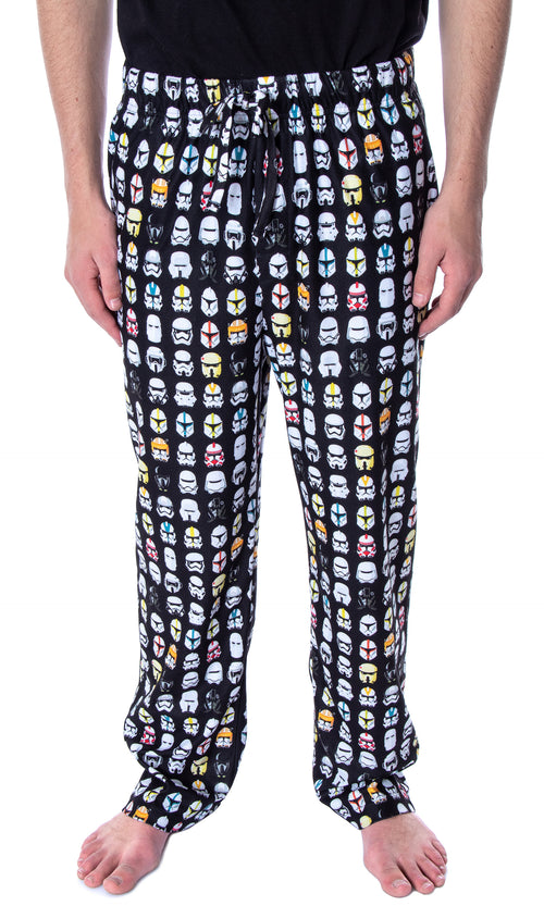 Star Wars Men's Ultimate Stormtrooper Head Allover Pattern Sleep Pajama Pants