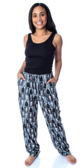Star Wars Men's Darth Vader and Stormtrooper Allover Grid Print Adult Sleepwear Lounge Pajama Pants