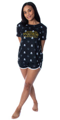 Star Wars Women's Darth Vader and Trooper Heads Shirt and Sleep Shorts Loungewear Pajama Set