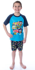 Teen Titans Go! Boys Little Pizza Toppings Pajama Short Set