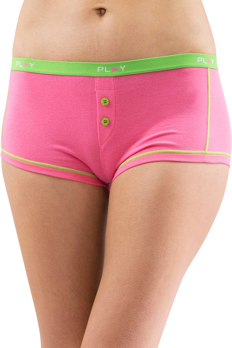 Play Intimo Womens Comfy Cozy Boyshort Underwear