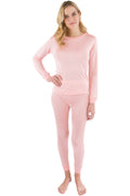 Intimo Womens Long John Pajama Set