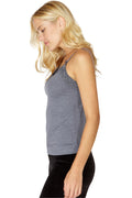 Intimo Womens Soft Knit Sleep Cami with Lace