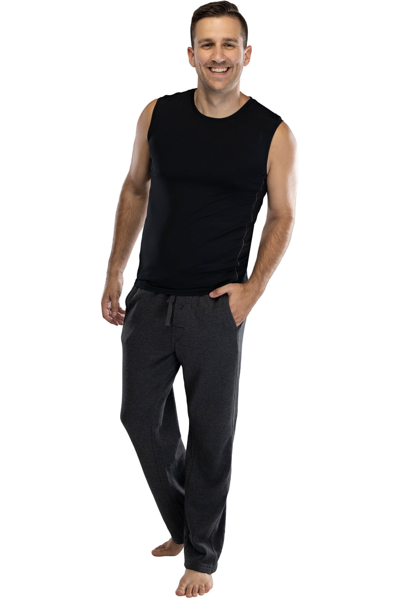 Intimo Mens Workout Fitness Muscle Tee Shirt Black