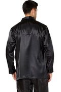 Intimo Mens Classic Satin Long Sleeve One Pocket Pajama Top