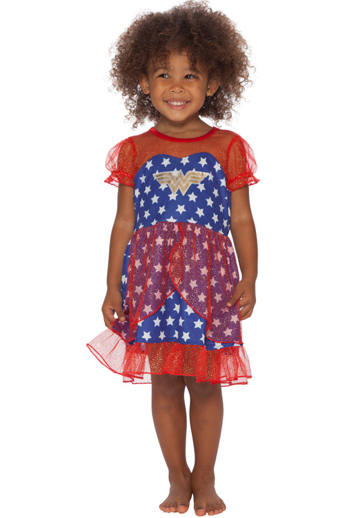 DC Comics Girls Toddler Wonder Woman USA Fantasy Nightgown