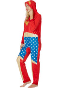 DC Comics Wonder Woman Ready One Piece Costume Pajama Union Suit