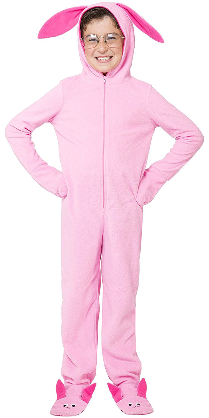 A Christmas Story Ralphie Pink Bunny Matching Family Pajama Set Onesie One-Piece Costume Union Suits