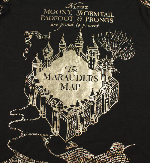 Intimo Big Girls' Harry Potter Marauders Map Raglan Nightgown (10/12)