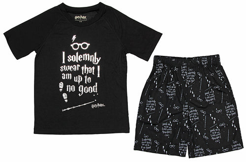 Harry Potter Intimo Big Boys Up to No Good Short Sleeve Boys Pajama Set