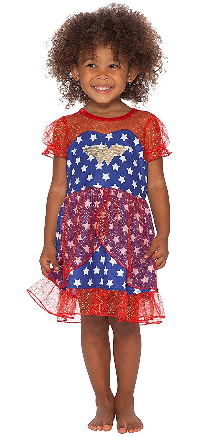 DC Comics Wonder Woman Girls USA Fantasy Nightgown
