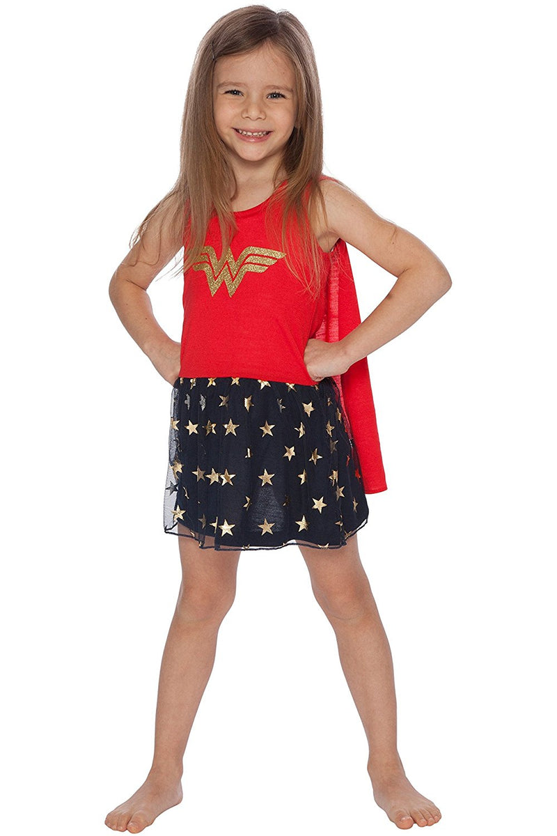 DC Comics Wonder Woman Girls Roller Derby Tank Gown with Cape