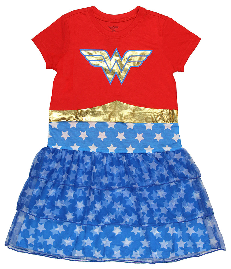 DC Comics Wonder Woman Girls' Costume 3 Tier Nightgown (X-Small)