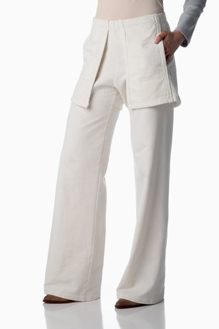 Floating Pocket Pants <br>Winter White