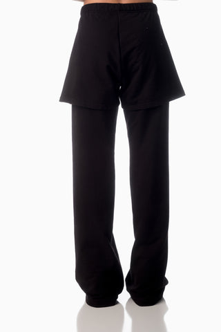 Floating Pocket Pants <br>Black