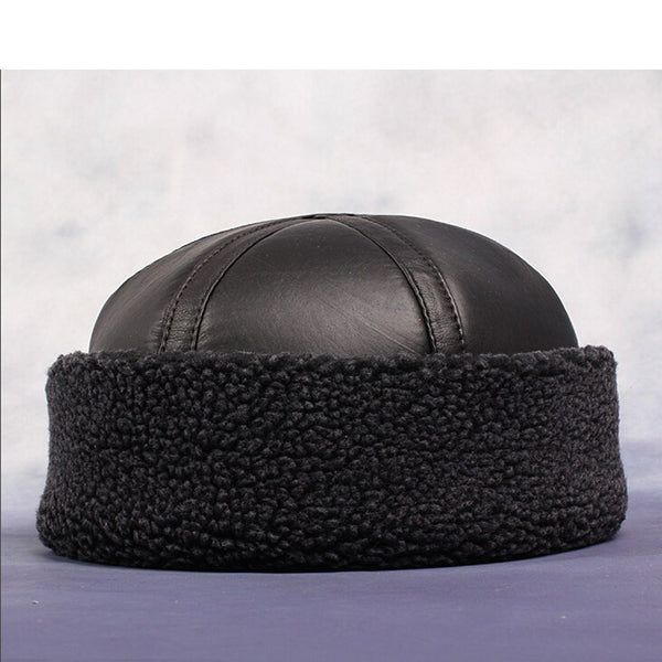 NEW!! Men's Genuine Leather Beanie-TheLeatherStore