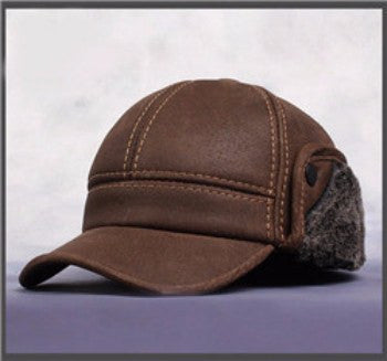 NEW!! Men's Genuine Leather Cap-TheLeatherStore