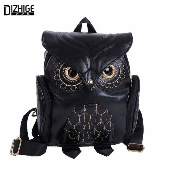 NEW!! 2017 Cute Faux Leather Owl Backpack-TheLeatherStore