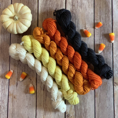 "Divine Sock Mini Set - ""Candy Corn"""