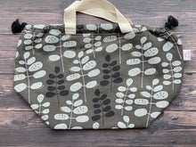 Large Project Bag - Gray Flora