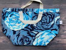 Large Project Bag - Blue Rose