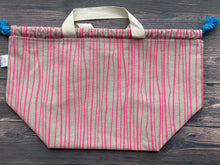 Large Project Bag - Funky Pink Stripes