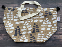 Large Project Bag - Taupe Flora
