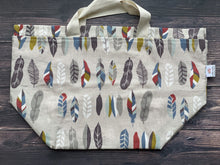 Large Project Bag - Feathers
