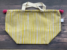 Large Project Bag - Funky Yellow Strips