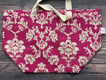 Large Project Bag - Pink Flora & Fauna