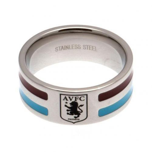 Aston Villa F.C. Ring Med Farvede Striber Medium