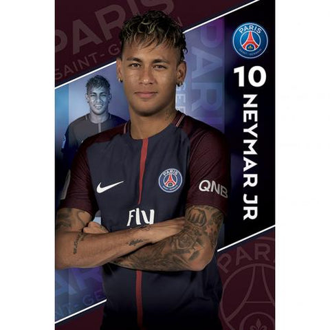 Paris Saint Germain F.C. Plakat Neymar 10