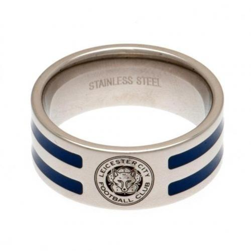 Leicester City F.C. Ring Med Farvede Striber Large
