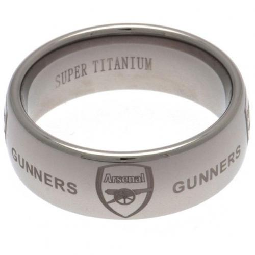 Arsenal F.C. Super Titanium Ring - Large