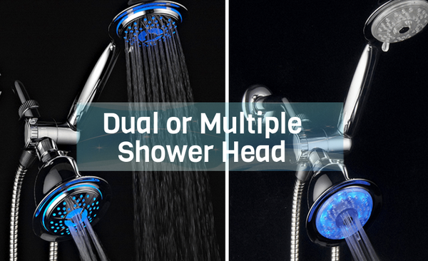 Dual or multiple shower head
