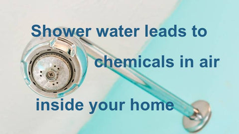 Shower water leads to chemicals in air inside your home