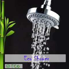 CaptainEco 4 inch 8 Setting high pressure shower head with Extra Teflon Tape USA Standard