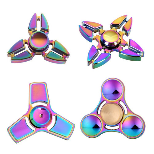 Metallic Multi-Color Fidget Spinners