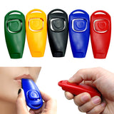 Pet Cat Training Clicker with Whistle 5 Color Pack Pet Training Product