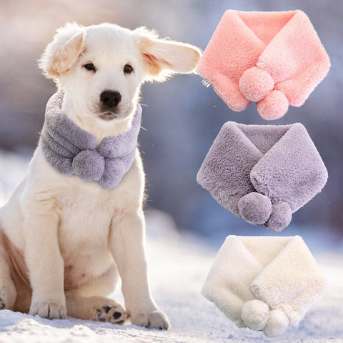 Soft Warm Dog Scraf Dog Accessories Winter Pet Neckerchief Scarves For Medium Large Dogs