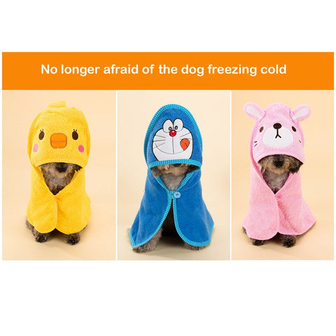 Strong Absorbent Bathrobe Spring Summer Pet Shower Product