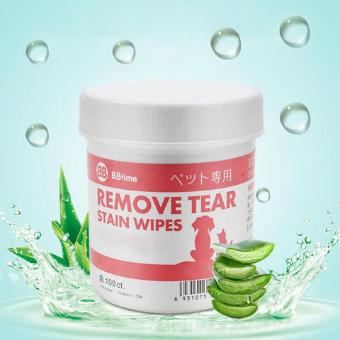 Pet Aloe Moisturizing Wipes Dog Eyes Tear Stain Cleaning Paper Towel for pet product